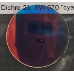 Dichro cyan Diam 26 mm