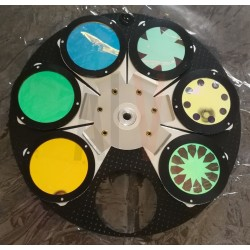 Complete gobo / color wheel